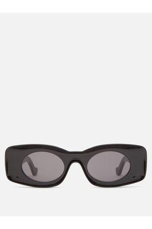 Men Sunglasses - Loewe - Rectangular Oval Acetate Sunglasses - Mens