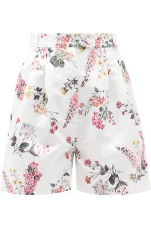 Emilia Wickstead Women Swimwear - Elliot High-rise Floral-print Faille Shorts - Womens