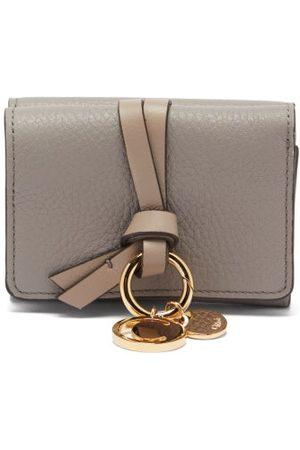Chloé Alphabet Grained-leather Wallet - Womens