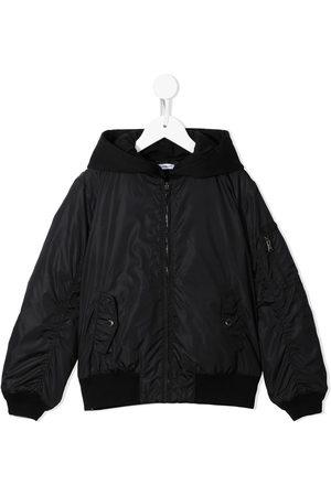 Dolce & Gabbana Kids Boys Bomber Jackets - Hooded bomber jacket