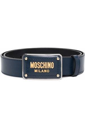 Moschino Enamelled buckle belt