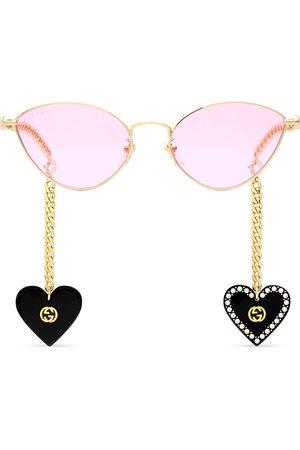 Gucci Charm-detail cat-eye sunglasses