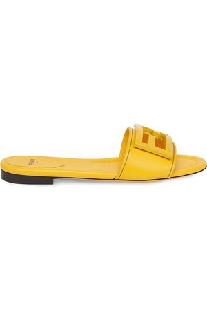 Fendi FF logo plaque sandals