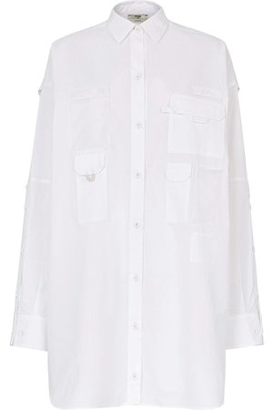 Fendi Multi-pocket logo shirtdress