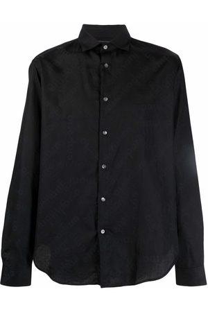 Emporio Armani Men Shirts - Logo-jacquard shirt