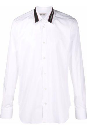 Alexander McQueen Logo-tape long-sleeve shirt
