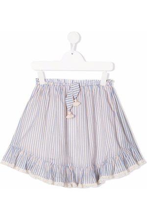 ZIMMERMANN Striped cotton skirt