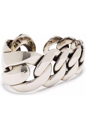 Alexander McQueen Men Rings - Oversized chain knuckleduster ring