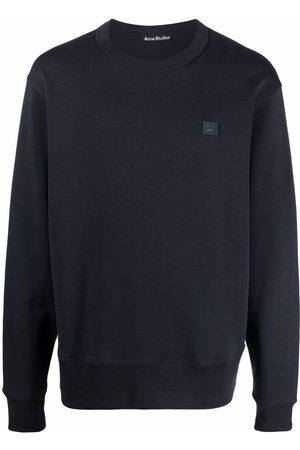 Acne Studios Face patch crew-neck sweatshirt