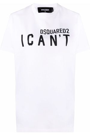 Dsquared2 Women Short Sleeve - I Can't slogan-print T-shirt