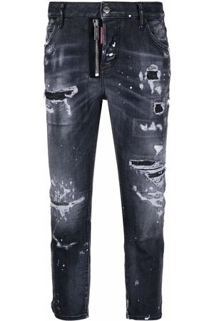 Dsquared2 Women Jeans - Ripped-detail cropped jeans