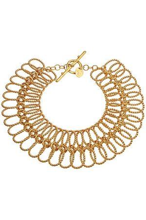 Sylvia Toledano XXL Link Goldtone Interlocking Choker Necklace