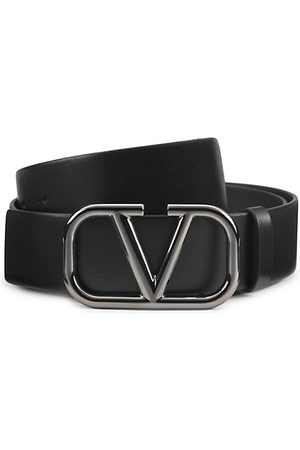 VALENTINO GARAVANI Men Belts - Logo Leather Belt