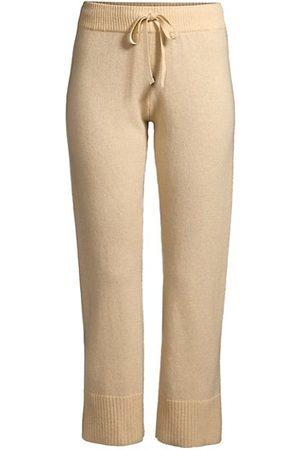 MINNIE ROSE Cashmere Ribbed Cuff Pants