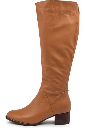 SUPERSOFT Women Knee High Boots - Piko Su Tan Boots Womens Shoes Casual Long Boots