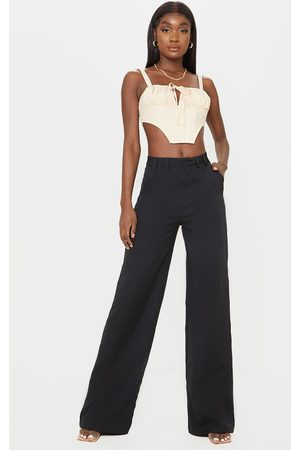 PRETTYLITTLETHING Women Formal Pants - Tall High Waisted Woven Pants