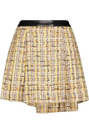 Natasha Zinko Women Mini Skirts - Knife-pleat tweed miniskirt