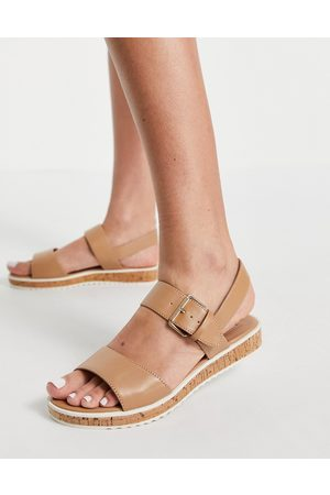 Dune Lawson two part sandals in camel-Neutral