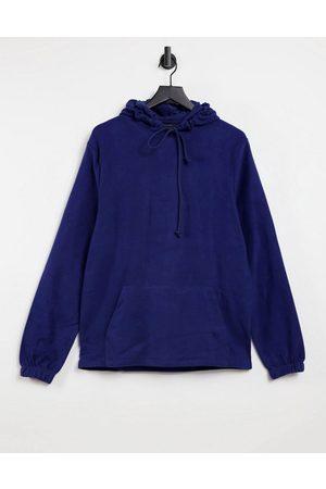 ASOS Hoodies - Hoodie in blue reverse fleece