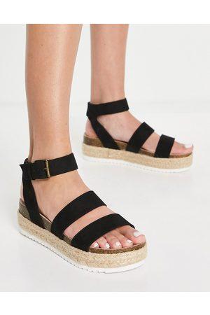 Miss KG Emeline pumped up espadrille sandals in black