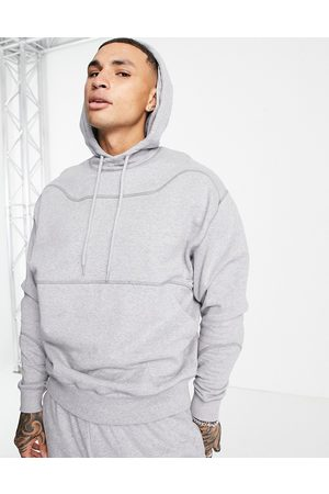 ASOS Outfit Sets - Organic co-ord oversized hoodie with stitch detail in grey marl