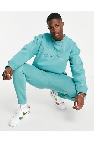 Topman Outfit Sets - Co-ord Signature embroidered sweatshirt in green