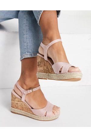 Glamorous Women Wedges - Wedge sandals in beige cork-Neutral