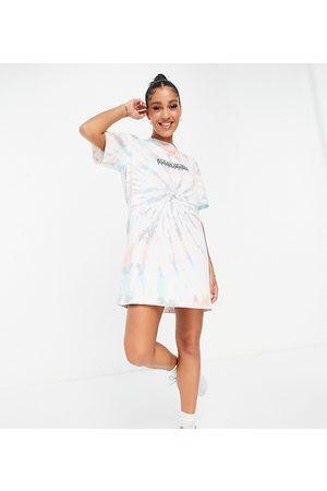 Napapijri Beatnik tie dye t-shirt dress in multi Exclusive at ASOS