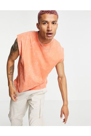 ASOS Oversized singlet in acid wash with seam detail