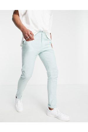 ASOS Skinny smart pants in mint and blue stripe