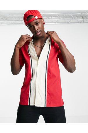Farah Men Short sleeves - Houston short-sleeved shirt-Red