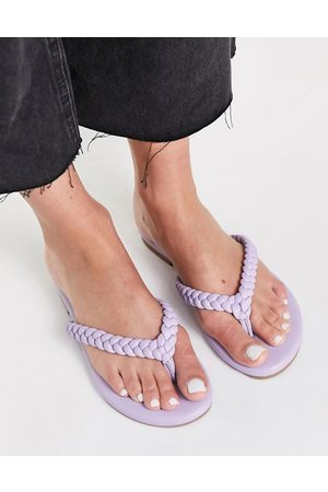 Steve Madden Nibble plaited thongs in lilac-Purple