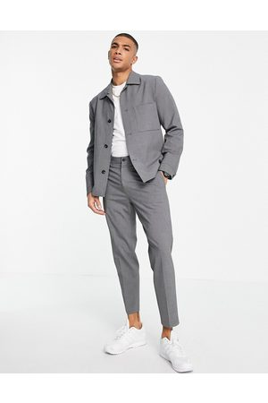 SELECTED Slim tapered suit pants in grey