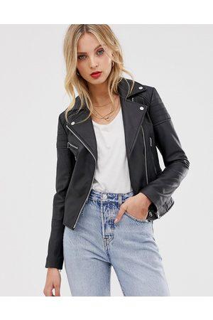 Barneys Originals Barney's Originals Clara real leather jacket-Black