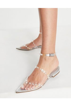 ASOS Women Ballerinas - Loyal pointed ballet flats in clear