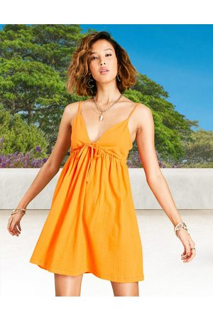 ASOS Strappy babydoll sundress in orange