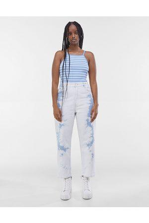 Bershka Men Neckties - Tie-dye jeans in white