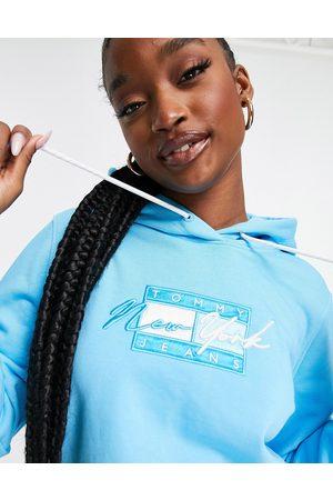 Tommy Hilfiger Flag logo hoodie in blue