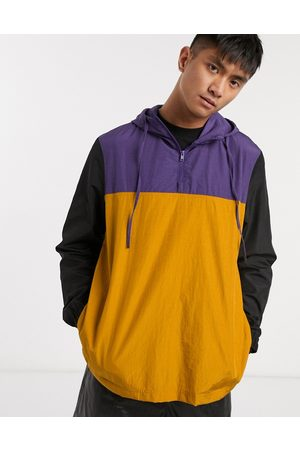 ASOS Overhead windbreaker with cut and sew panels in multi