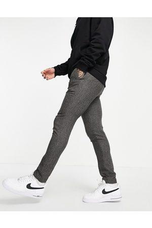 ASOS Formal Pants - Skinny suit pants in grey nep texture