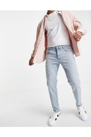 ASOS Women Stretch - Stretch tapered jeans in tinted light wash-Blue