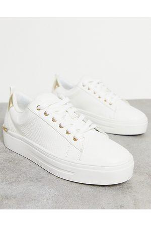 Aldo Astalewen flatform sneakers in white