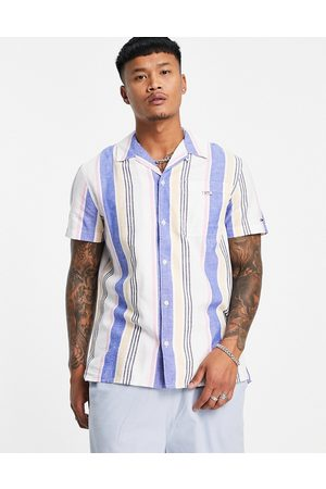 Tommy Hilfiger Short sleeves - Short-sleeved stripe camp shirt in nightfall navy