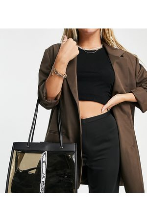 Glamorous Women Tote Bags - Exclusive clear tinted tote bag in black