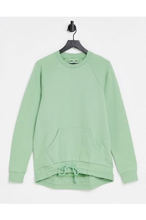 ASOS 4505 unisex sweat with curved hem-Green