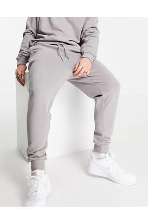 ASOS Hoodies - Tracksuit with oversized sweatshirt and drop crotch trackies in grey