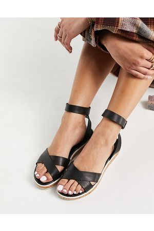 Dune Lawson two-part sandals in black
