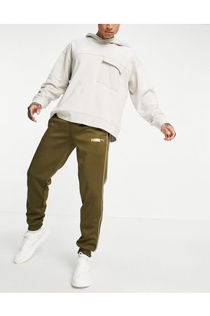 PUMA Suede track pants in green