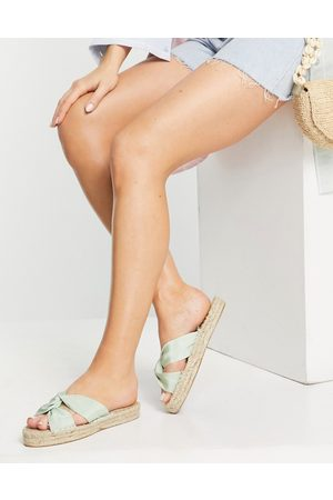 ASOS Espadrilles - Jolly knotted mule espadrille in green