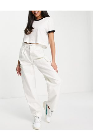 ASOS Chinos - Pleat front chino with cargo pockets in white